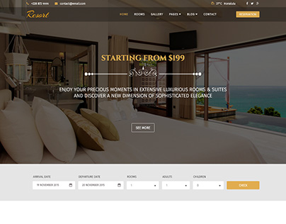 Resort - A Luxury Hotel Joomla Template