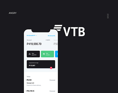 VTB Bank App by ANGRY | Приложение банка ВТБ