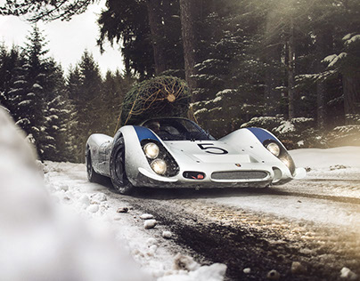 Porsche 908 Christmas tree delivery