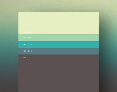 Minimalist color palettes 2015 on behance - Exterior paint color combination minimalist ...