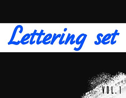 Lettering set.  Vol. 1