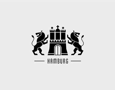 Stadtwappen Hamburg und Frankfurt