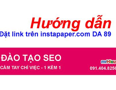 Hướng dẫn đặt Link trên Instapaper DA 89