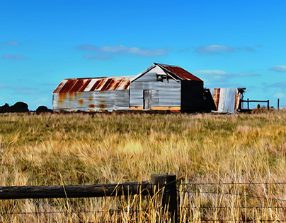Old Dilapidated Farm Shed