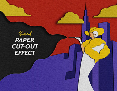 Scissored Paper Cut-Out PS Effect