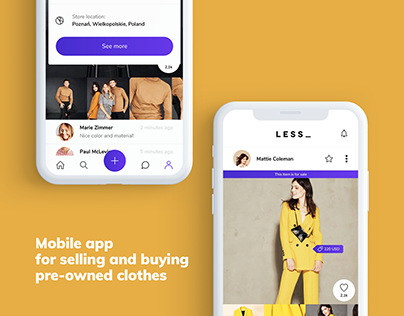 LESS_ Mobile marketplace for pre-owned clothes