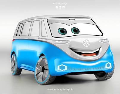 Cars - Volkswagen Van ID Buzz Concept - Illustration