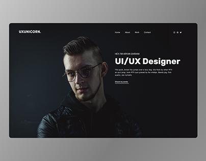 Designer professional website homepage