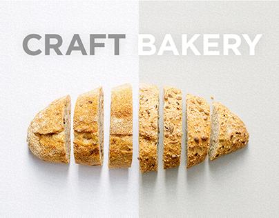 Landing page - Craft bakery