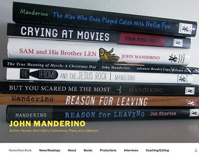 Website - John Manderino, Writer