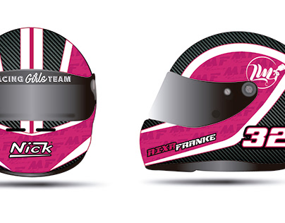 Helmet design for 'MF Racing Team'
