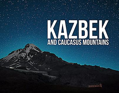 Kazbek and Caucasus Mointains