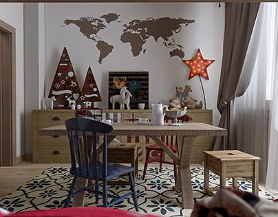 Kidsroom for Villa Chalet