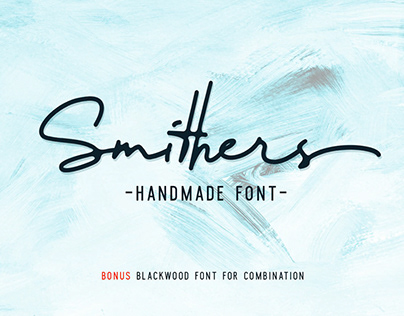 Smithers Handmade font SALE 50% off