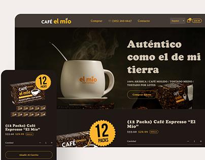 Website Design for Café El Mío