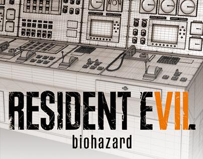 Resident evil 7: High-poly modeling