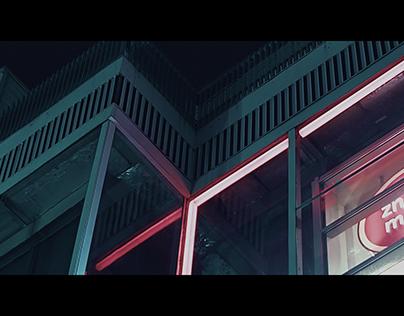 Warsaw at night VFX ANIMATION