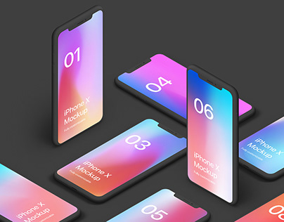 iPhone XS Clay 20 Scenes Mockups by Asylab