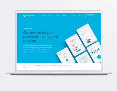 Seven Senders | Responsive webdesign and rebrand