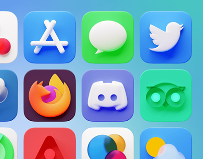 Caramel 3D icons for iOS 14