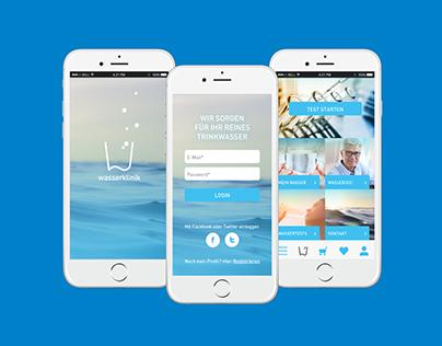 Wasserklinik – App with shop system