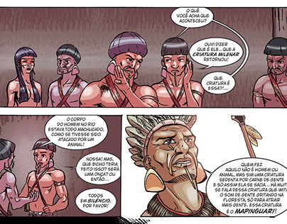 Portfólio - Quadrinhos #02 - Mapinguari