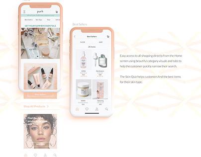 Skin Care e-comm app for iOS