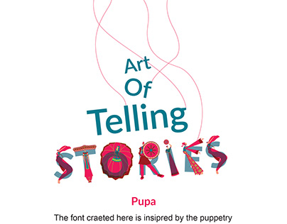 PUPA art of telling stories- TYPEDESIGN