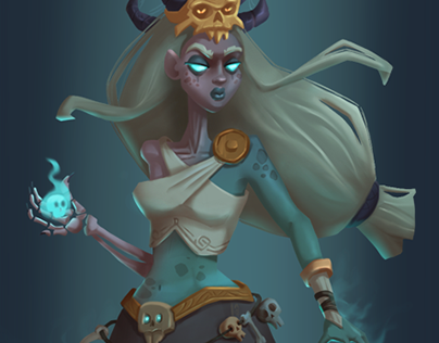 Hel-Norse Goddess of the Death. Project for Cdchallenge