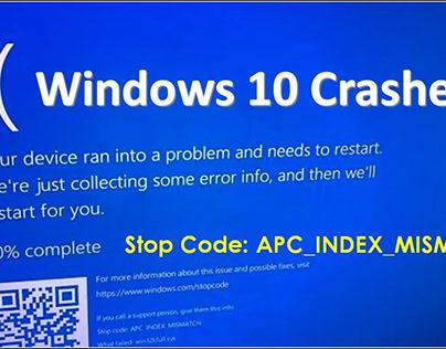 How to Fix APC_INDEX_MISMATCH BSOD on Windows 10?