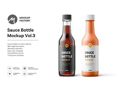 Sauce Bottle Mockup Vol.3