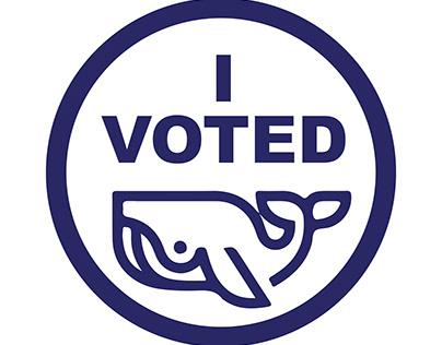 """I Voted"" Connecticut Sticker ReDesign"
