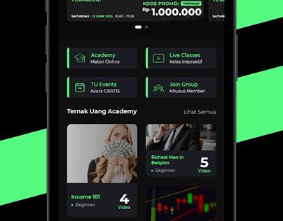Ternak Uang App redesign
