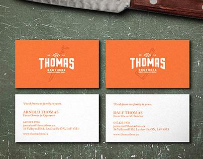 Thomas Brothers Butcher - Identity, Cards, & Tagline