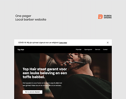 Top Hair - Barbershop (Website Design)