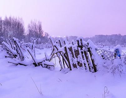 Various shades of snow