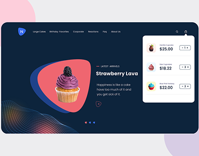 Online Store Design to Sell Cakes and Pastries