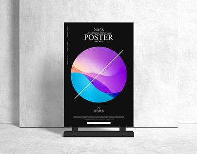 Advertising 24x36 Sign Poster Mockup Free