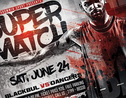 Basketball Super Match Flyer