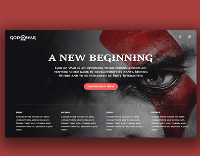 God Of War Promo Page Redesign