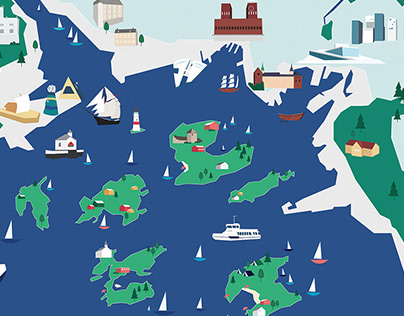Oslo districts illustration project