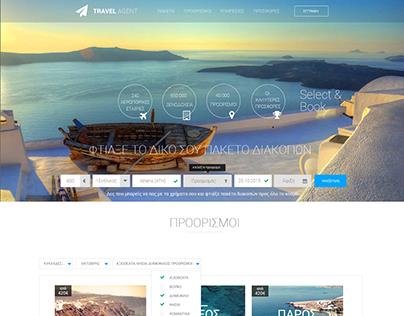 Travel Agent - Website Theme {Prototype}