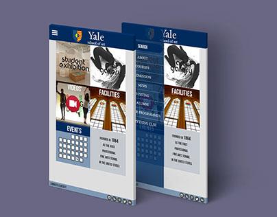 YALE WEBSITE DESIGN FOR SMART PHONE