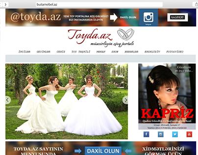 Website for wedding portal Toyda.az