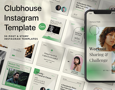 Clubhouse Instagram Templates