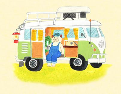 WagenBus Camping