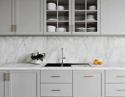 Gray Kitchen Scene