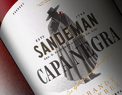 SANDEMAN BRANDY IMPERIAL & CAPA NEGRA