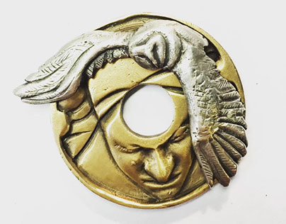 Knowledge is Wealth Metal Coin