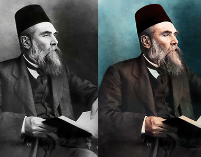 Ahmet Mithat Efendi - Fotoğraf Renklendirme